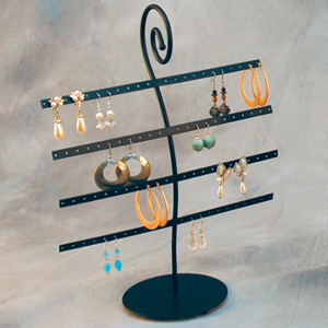 Metal earring display