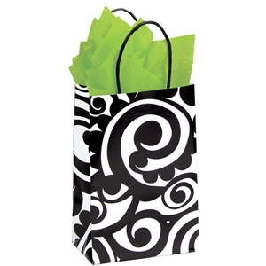 Bold Scroll Shopping Bag 5-1/2 x3-1/4x8-3/8