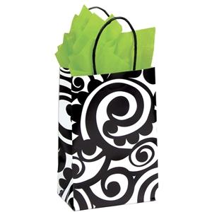 Bold Scroll Shopping Bag 5 1 2 X3 1 4x8 3 8 Firefly
