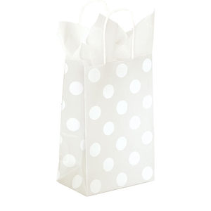 Polka Dot Pearl Shopping Bag 5-1/2x3-1/4x8-3/8