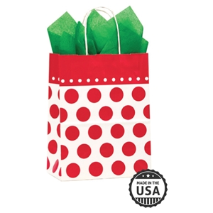 Cherry Dots Shopping Bag