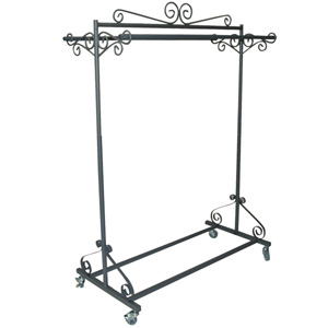 Gray Boutique Double Rolling Rack Bq Dr Firefly Solutions