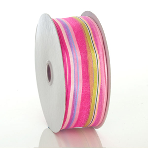 Pink Berry Devan Stripe Ribbon