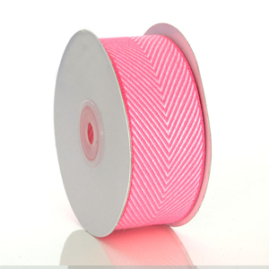Hot Pink Herringbone Ribbon