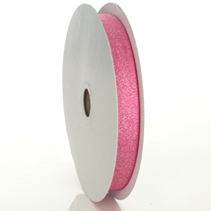 Raspberry Luxe Metallic Ribbon 5/8""