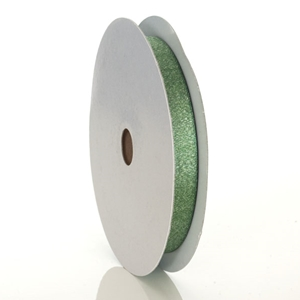 Green Luxe Metallic Ribbon 5/8""