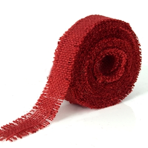 Jute ribbon red