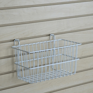 White narrow basket
