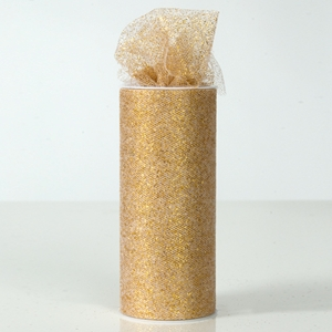 Sparkle tulle ribbon gold