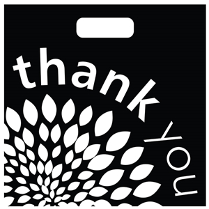 20x20x5 Plastic Thank You Bag