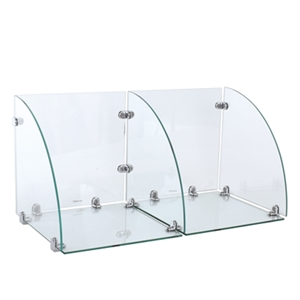 Double Caddy Glass Countertop Display