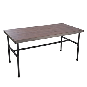 "Hanson Industrial Piping Display Table 47"" W x 23"" D x 29"" H"