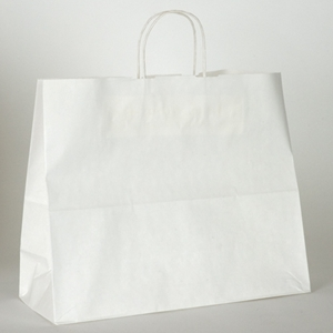 white paper shopping bag 16x6x12-1/2