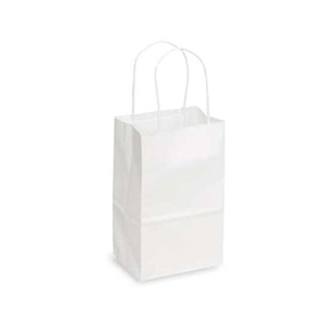 white paper shopping bag 5.25x3.5x8.25