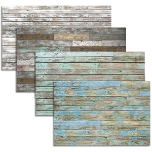 Old Painted Wood 3D Textured Decorative Wall