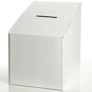 Contest box blank white