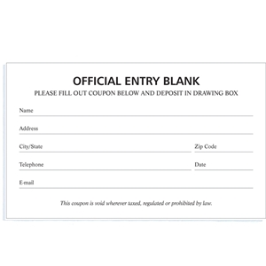 Blank entry forms white gold for Entry tickets template