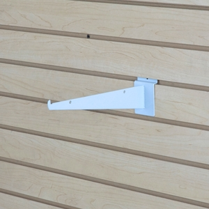 Shelf bracket white 12 inch
