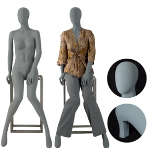 charcoal female mannequin