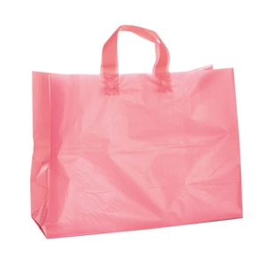 Bubblegum Pink Soft Loop Frosted Shopping Bag