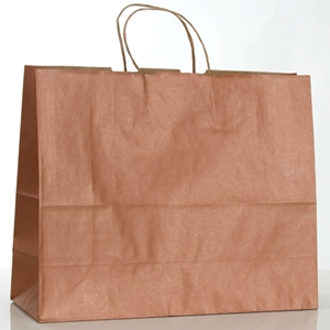 Copper penny tinted paper shopping bag 16 x 6 x 12