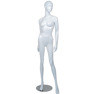 Female mannequin white gloss FM-2W