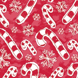 flakes & candy canes holiday gift wrap