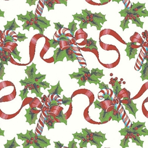 red ribbons & canes holiday gift wrap
