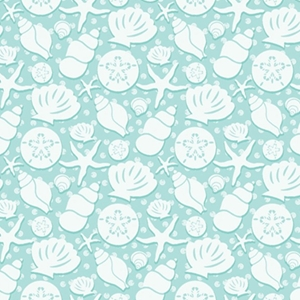 seashells all occasion gift wrap
