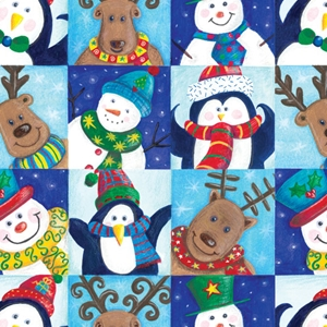 winter fun holiday gift wrap