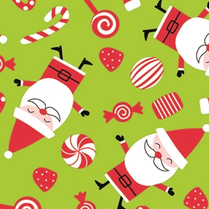 peppermint santa holiday gift wrap
