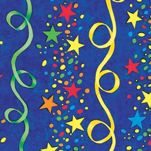 stars & streamers baby gift wrap
