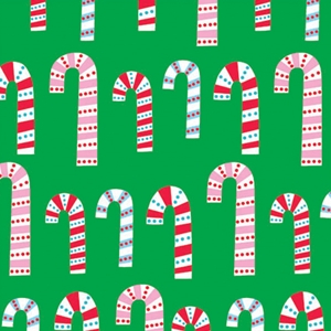 dotty candy cane holiday gift wrap