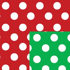 christmas polka dots holiday gift wrap