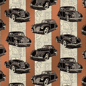 classic cars gift wrap