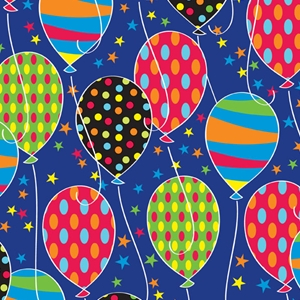 party balloons celebration gift wrap