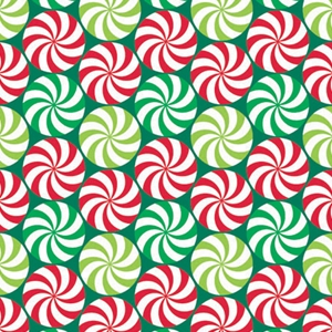 peppermint swirl holiday gift wrap