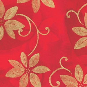 poinsettia shadows holiday gift wrap