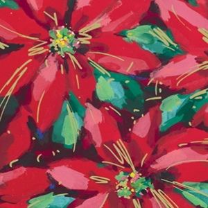 Festive Poinsettias Gift Wrap