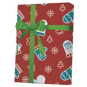 Mittens Trees & Snow Gift Wrap
