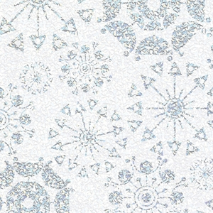 Glittering Snowflakes Gift Wrap