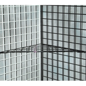 Grid wire interior shelf black