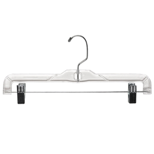 Clear 14 inch skirt or pant hanger
