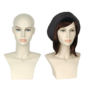 ladies realistic wig display