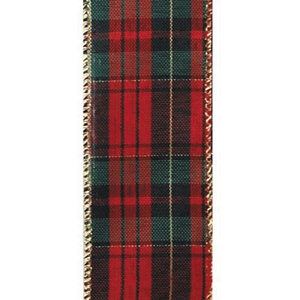 "Holiday Plaid Wired Ribbon 2 1/2"" W x 50 yards"