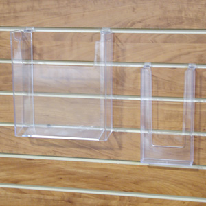 Acrylic brochure holder for 4Wx9H