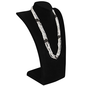 "Curved Bust Necklace Display 13-3/4"" H"