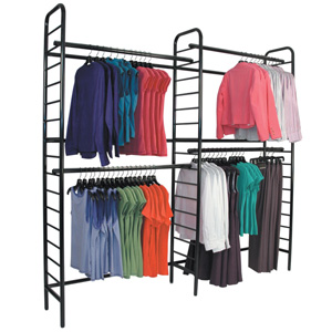 Ladder system double 2tier wall unit