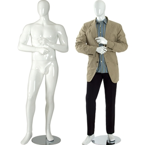 Male mannequin gloss white