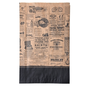 Newsprint Merchandise Bag 11.5x3x18